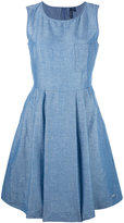 Woolrich denim flared dress - women - Cotton/Linen/Flax - L