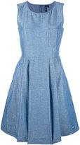 Woolrich denim flared dress - women - Cotton/Linen/Flax - M