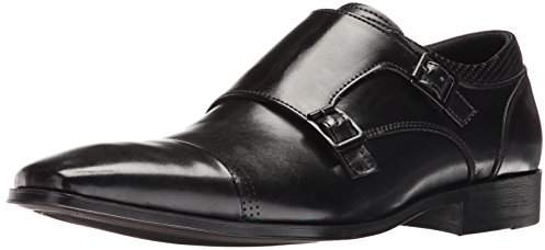 Size 11.0 Black Unlisted By Kenneth Cole Mens Music Lesson Buckle Dress