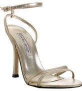 gold metallic leather 'Defy' sandals