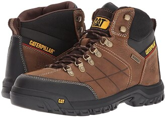 Caterpillar Threshold Waterproof Soft Toe (Brown) Men's Work Boots