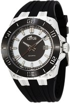 Lotus R Men's Quartz Watch with White Dial Analogue Display and Black Rubber Strap 15805/1