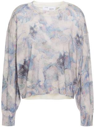 IRO Printed Merino Wool And Silk-blend Sweater