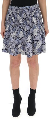 Ganni Printed Mini Skirt