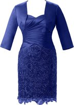 Vienna Bride Short Mother of the Bride Dress with Jacket Half Sleeves Formal-US size