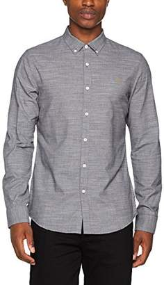 Farah Men's Tensington Slim Fit Plain Button Down Long Sleeve Casual Shirt