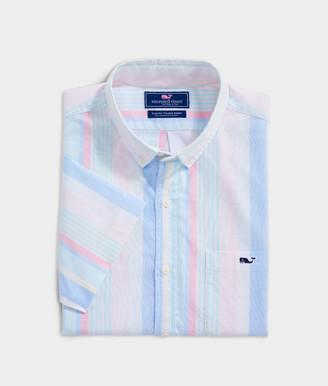 Vineyard Vines Slim Fit Bailey Stripe Short-Sleeve Tucker Button-Down Shirt