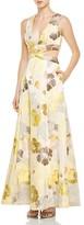 ABS by Allen Schwartz V-Neck Floral Print Gown