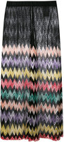 Missoni sheer panel zig zag palazzo pants