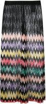 Missoni sheer panel zig zag skirt - women - Rayon - 42