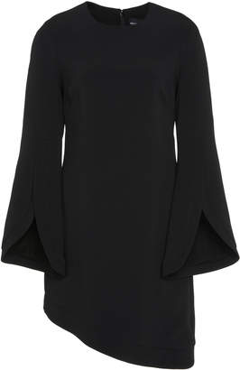 Brandon Maxwell Asymmetric Crepe Mini Dress