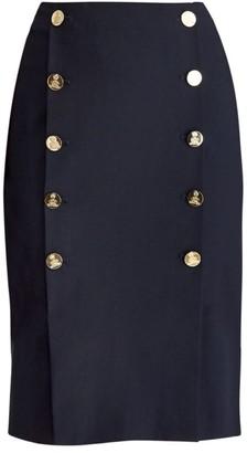 Ralph Lauren Ophelie Button Pencil Skirt