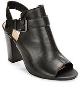 Tahari Martin Leather Peep-Toe Heels
