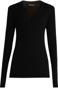Rochas Wool and cashmere-blend long-sleeved sweater