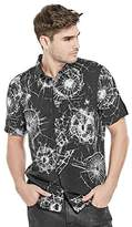 GUESS Men's Short Sleeve Shattered Glass Print Shirt