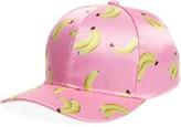 Cara Women's Banana Print Snapback Cap - Pink