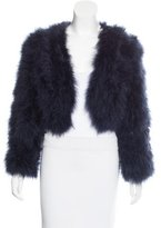 Vanessa Bruno Cropped Feather Jacket