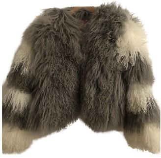 CHARLOTTE SIMONE Grey Mongolian Lamb Coats