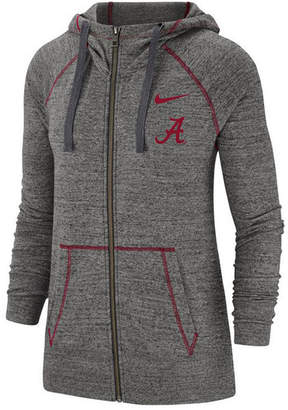 Nike Women Alabama Crimson Tide Gym Vintage Full-Zip Jacket