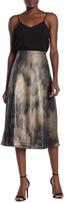 Free Press Textured Snake Print Midi Skirt (Regular & Plus Size)