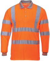 Myshoestore Men's High Visibility Reflective Tape Safety Security Plus Big Size Polo Shirt