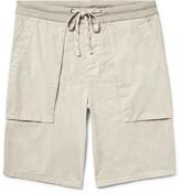 James Perse Slim-fit Cotton-poplin Cargo Shorts - Ecru