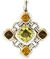 David Yurman Two-Tone Prasiolite, Smoky Quartz & Citrine Renaissance Enhancer