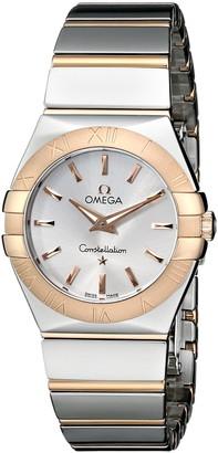 Omega Women's 123.20.27.60.02.003 Constellation Polished Analog Display Quartz Silver-Tone Watch
