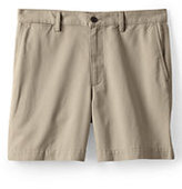 "Lands' End Men's Traditional Fit 6"" Plain Front Casual Chino Shorts-Sisal"