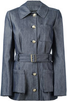 Lanvin chambray belted jacket - women - Silk/Cotton/Acetate/Cupro - 38