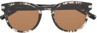 Salvatore Ferragamo Round Frame Sunglasses