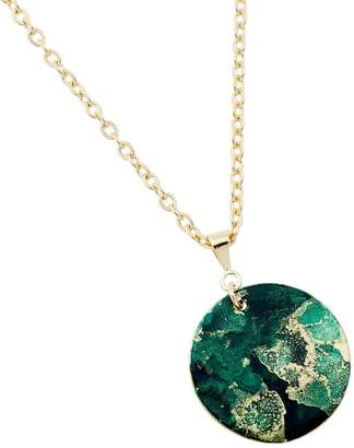 Design Studio Odell Fine Pendant Necklace - Emerald