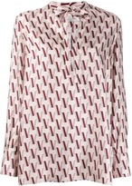 Valentino V-print blouse