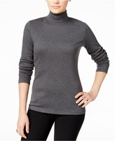 Karen Scott Long-Sleeve Turtleneck, Only at Macy's