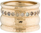 Melinda Maria Labradorite Hammered Wide Band