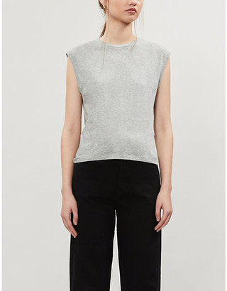 Frame Le High Rise Muscle Tee cotton-jersey T-shirt