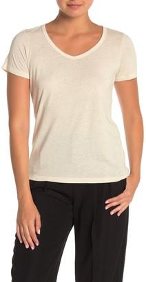 Vince V-Neck Short Sleeve Slub T-Shirt