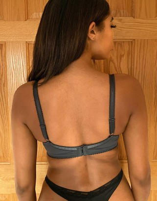 Pour Moi? Pour Moi madison underwired bra in slate & pink