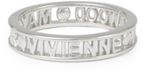 Vivienne Westwood Sterling Silver Westminster Ring Rhodium size XXL