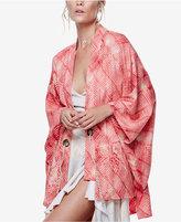 Free People Printed Rope-Belt Kimono