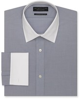 Bloomingdale's The Men's Store at End-on-End White-Collar Dress Shirt - Regular Fit