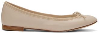 Repetto Beige Leather Cendrillon Ballerina Flats