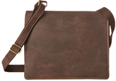 Visconti Tan Two-Compartment Leather Messenger Bag