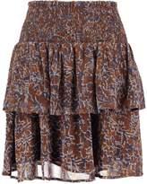 Cream VITTA Mini skirt khaki palm