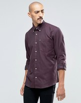 Barbour Shirt In Cotton Twill In Tailored Slim Fit Red