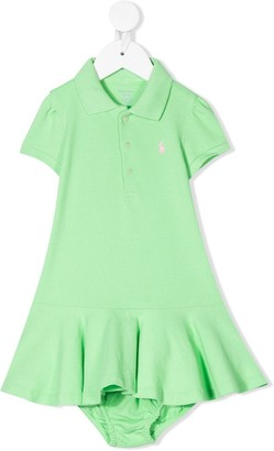 Ralph Lauren Kids Embroidered Logo Polo Dress