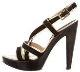 Versace Suede Crossover Sandals