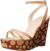 Nine West Anadulo Women US 9.5 Tan Wedge Sandal