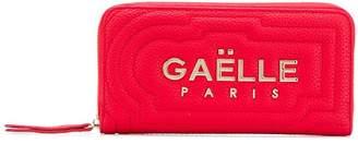 Gaelle Bonheur zipped logo plaque wallet