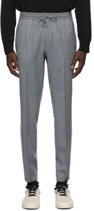 Ermenegildo Zegna Grey Wool Banded Lounge Pants